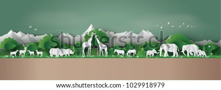 eco concept and world wildlife