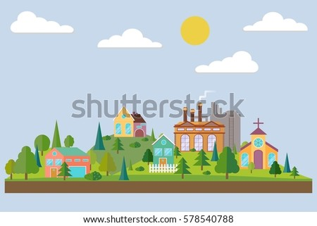 eco village with plant or