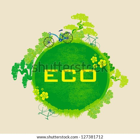 ecology card design. vector illustration