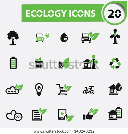 20 Ecology icons,vector