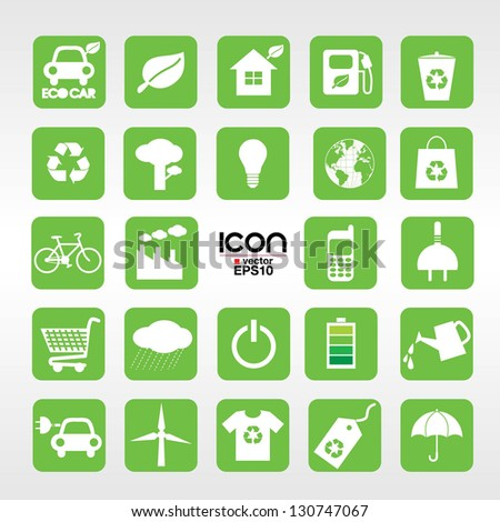 24 Ecology vector icons set.EPS10