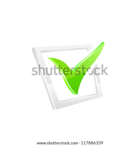 ?ector green checkmark - stock vector