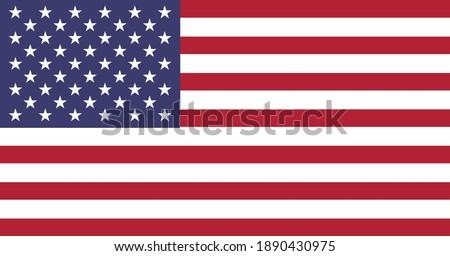 editable vector image of american flag