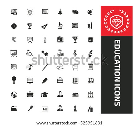 Education icon set design,clean vector