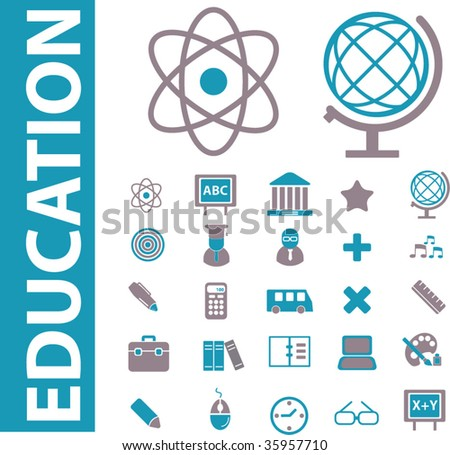 25 education icons. vector