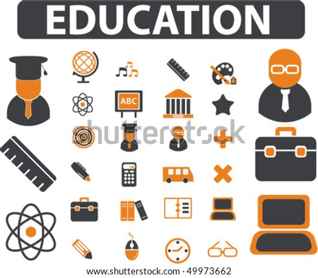 20 education signs. vector