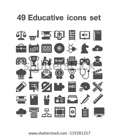 49 Educative icon set