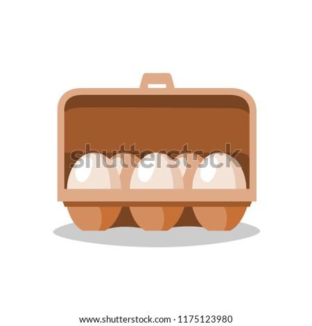 eggs in box vector.