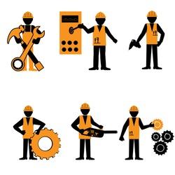 Elegant People Services. Construction worker