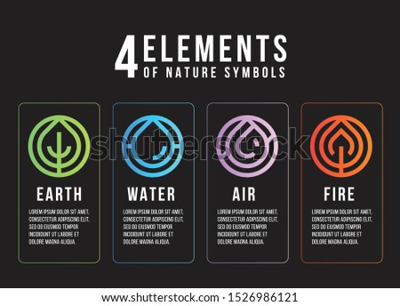 4 elements of nature symbols