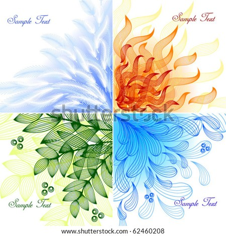 4 elements set of vector