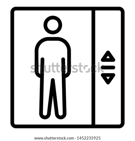 Elevator, elevator door Isolated Vector Icon which can easily modify or edit  #1452235925