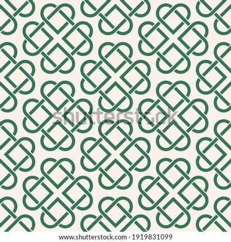 Сeltic pattern on light background. Texture. Ornament. Four-leaf clover. Сток-фото ©