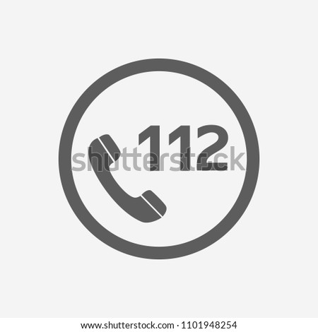 112 Emergency Call Vector Icon Illustration For Web And Mobile App Isolated White Backround.Ui Ux eps 10