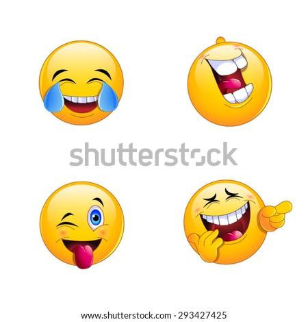 4 emoji smiley faces