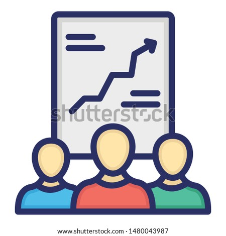 Employee growth, growth chart Isolated Vector icon which can easily edit