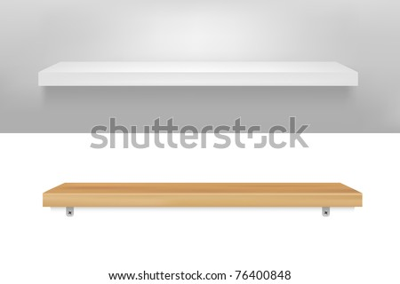 2 Empty Shelf, Vector Illustration