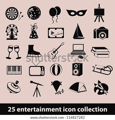 25 entertainment icon collection