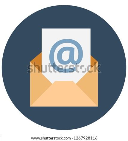 Envelope isolated    Color isolated Vector Icon that can be easily modified or edit