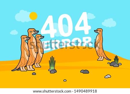 404 error page and meerkats in