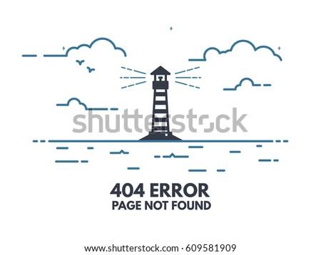 404 error page flat line