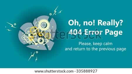 404 error page vector template