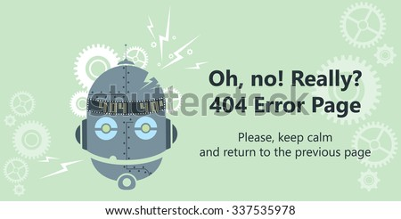 404 error page vector template