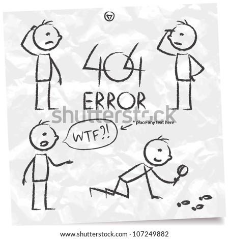404 error, searching man set