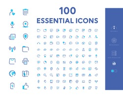100 Essential Icon Set Eps