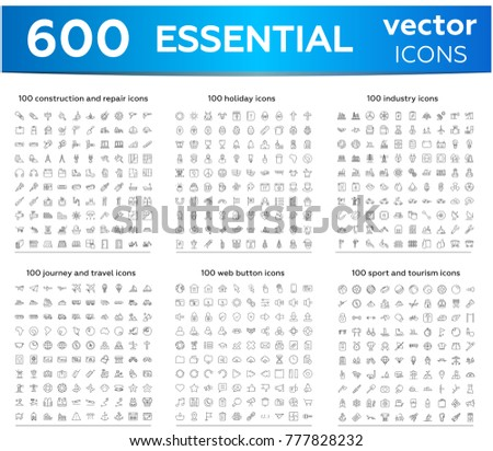 600 essentials thin line icon