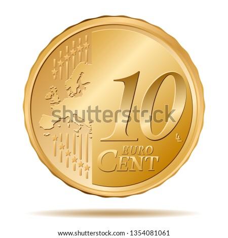 10 Euro Cent coin Stock photo ©