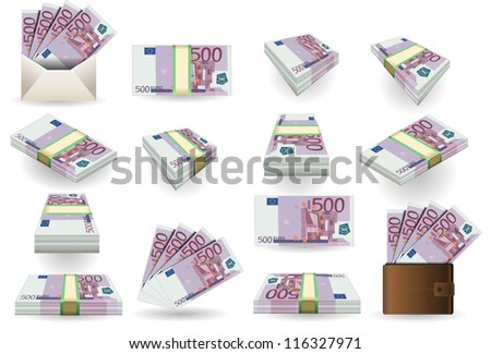 500 euro finance banknotes full