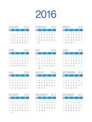 2016 European Calendar