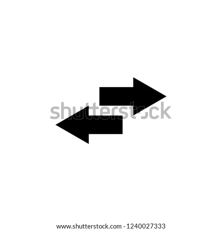 Exchange icon in flat design on white background. switch arrows