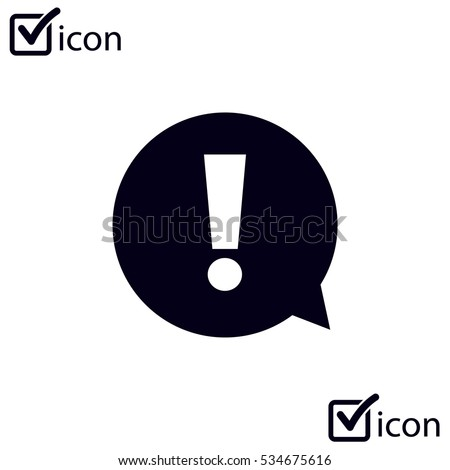 Exclamation mark.  Exclamation mark. Hazard warning symbol. Flat design style. Vector EPS 10.