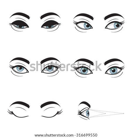 eye vector at different