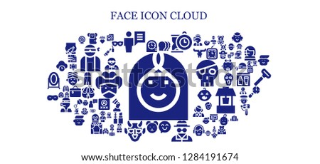 face icon set 93 filled face