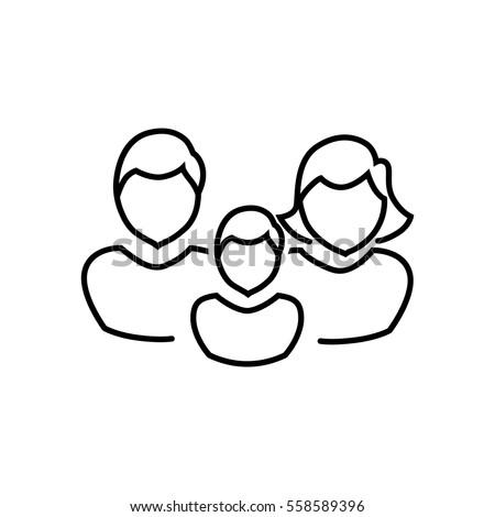 Family icon Flat.
