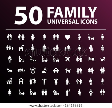 50 Family Icons.