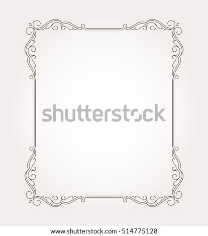 Fancy page decoration. Decorative frame border. Vector illustration #514775128