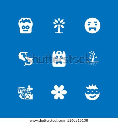 9 fantasy icons in vector set