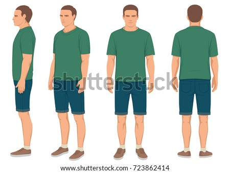 fashion man isolated  front