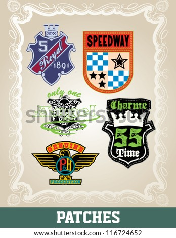 2012 2013 fashion sports patches