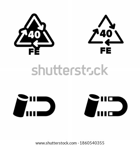 '40 FE' steel recycling and reprocessing code information sign Foto stock ©