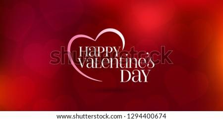 14 February Valentine's Day Celebration (Turkish - 14 Subat Sevgililer Gununuz Kutlu Olsun) wishes, billboard, social media card design. #1294400674