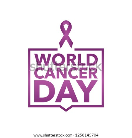 f015893995d 4 February World Cancer Awareness Month Campaign Background with paper  Magenta ribbon symbol. Pancreatic Cancer