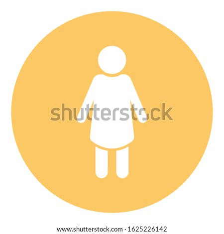 Female, female body silhouette Isolated Vector icon which can easily modify or edit