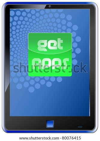 fictional  smart phone with button: get apps