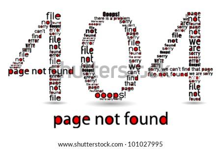 404 file error typographic illustration