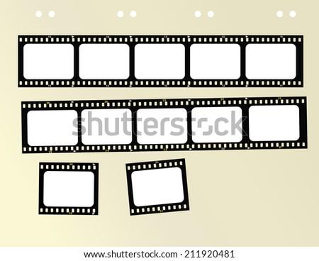 filmstrip,free copy space, vector format